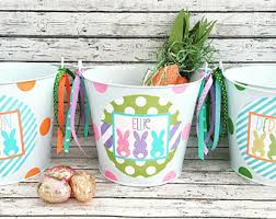 painted easter buckets easter etsy