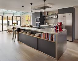 salon salle a manger cuisine design interieur cuisine ouverte salon salle manger armoires noir