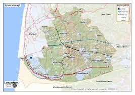 Lancashire England Map by Fylde District Lancashire County Council