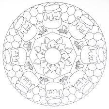 mandala coloring page honey moldovancsaba flickr