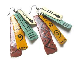 paper mache earrings paper prezzies jewelry paper prezzies paper mache home decor
