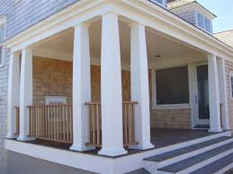 tapered cambered edge mitered pvc columns