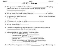 bill nye energy video worksheet energy pinterest bill nye