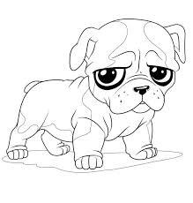 cute french bulldog drawing