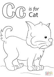c is for cat coloring page funny coloring