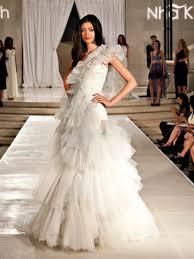 custom wedding dress khanh custom wedding dress one shoulder textured bridal gown
