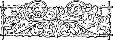 clipart vines and trellis stylized