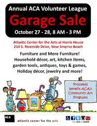 annual aca volunteer league garage sale atlantic center for the arts