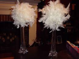 feather centerpieces ostrich feather centerpieces weddings style and decor wedding