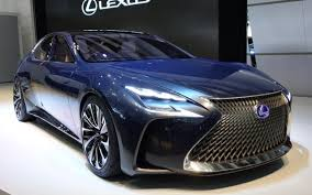 lexus sports car blue lexus lf fc concept previews 2016 ls luxury saloon