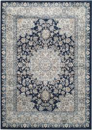 Navy Blue And Beige Area Rugs by Rug Peg605t Persian Garden Area Rugs By Safavieh