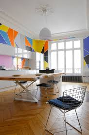 thi t k p thi t k nha theo nhu c u thi t k nha hang thi t wall decorating ideas using modern geometric style