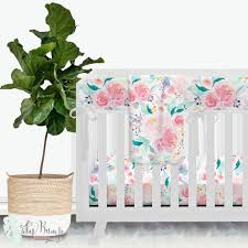 Floral Crib Bedding Sets Bright And Beautiful Watercolor Floral Baby Crib Beddin