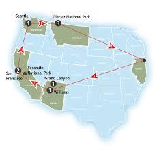 Map San Francisco To Yosemite National Park by Grand National Parks W Grand Canyon Yosemite And Glacier