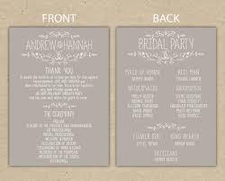 program for wedding template ten things you should do in diy wedding program template