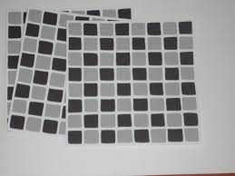 Tile Stickers For Kitchen 10 X Black U0026 Grey Mosaic Tile Transfers Stickers Transform
