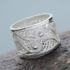 rings silver bands images Handcrafted oxidized sterling silver filigree ring yin yang glow jpg