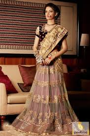 cream and maroon color combination best lehenga style for bridle