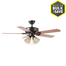 Lowes Ceiling Fan Light Kits Shop Harbor Springfield Ii 52 In Bronze Indoor Downrod Or