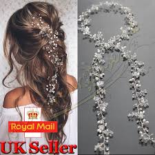 bridal hair pearls wedding hair vine bridal accessories diamante