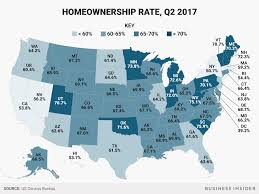 Least Expensive Place To Live In Usa Homeownership Rate State Map Business Insider