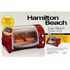 Toast In Toaster Oven Hamilton Beach Easy Reach 4 Slice Toaster Oven 31337