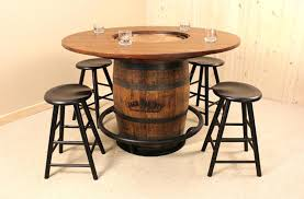 whiskey barrel table for sale whiskey barrel table and chairs venkatweetz me