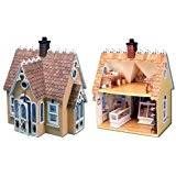 amazon com dollhouse miniature the storybook dollhouse cottage by