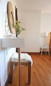 makeup vanity bedroom narrow white glass top vanity table with