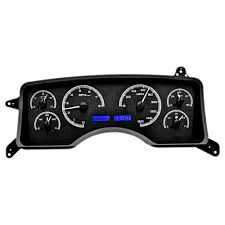 dakota digital mustang gauge cluster vhx w black alloy 90 93