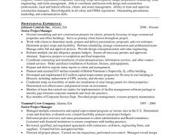 Resume Templates For Project Managers 5 Project Management Resume Sample Resume Sample Project