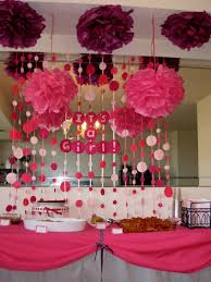 ideas for pink safari baby shower decorating of party