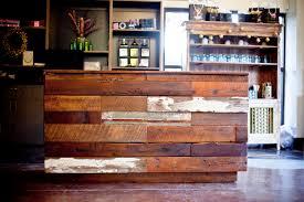 Wood Reception Desk City Salon And Spa Makeover Athens Ga Reclaimed Wood Farm