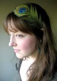 peacock headband peacock feather headband beautifully unique silk fabric