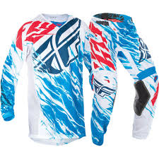 fly racing motocross fly racing 2017 mx new kinetic relapse blue white jersey pant