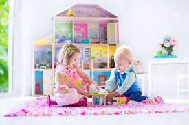 Kid Play Rug With Doll House And Stuffed Animal Toys Children