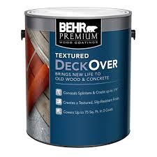 behr premium textured deckover 1 gal textured wood and concrete