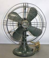 Oscillating Desk Fan by Vintage Dominion Desk Fan Model 900 Wwii Era Very Unusual Cage