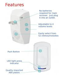 wireless doorbell system with light indicator sadotech wireless doorbell doorbell system pinterest modern