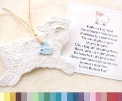 baptism favor ideas 10 baptism favors seed paper lambs plantable lambs