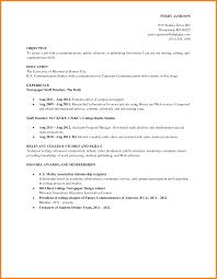 Job Resume Outline 6 Job Resume Samples For College Students Ledger Paper