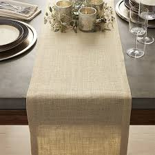 gold jute table runners crate and barrel