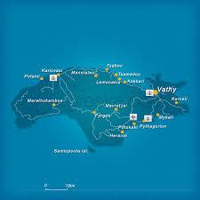 island on map map of samos island greece greeka com