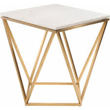 modern furniture end tables nuevo modern furniture hgtb263 jasmine side table w white marble