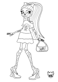 free printable monster high coloring page for sirena von boo in