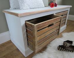wood small bench with storage well suited small bench with
