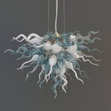 Glass Blown Chandeliers by 3d Model Viz Glass Lulu Chandelier Cgtrader