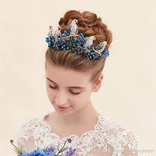 headpieces online vintage wedding bridal crown tiara headpieces blue