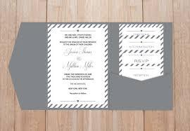 diy pocket wedding invitations diy pocket wedding invitation template set grey carnival stripes
