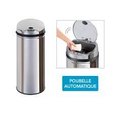 poubelle automatique cuisine frandis poubelle automatique inox sensor 45l pas cher achat